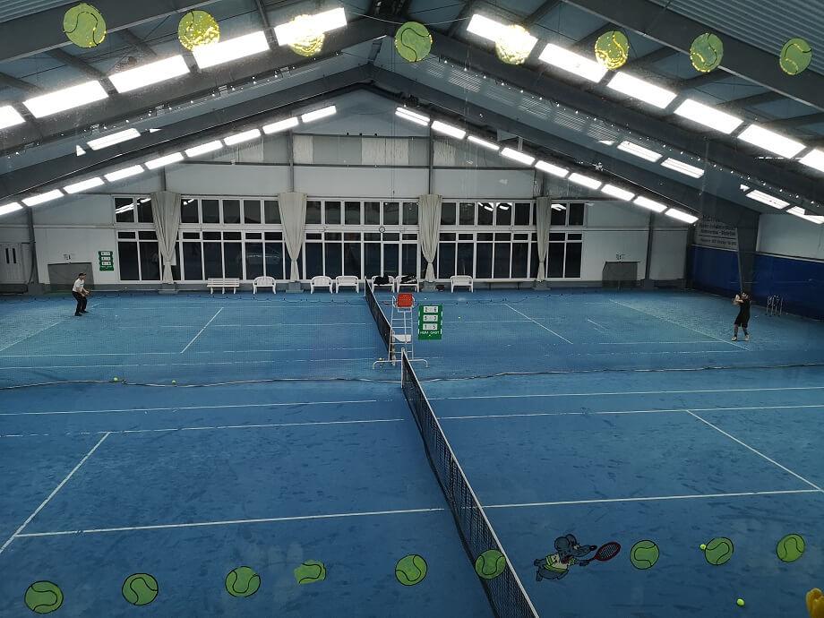 Tennis - Blick in Halle 1 und 2